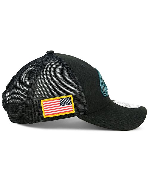 8d5d9ddf253 ... New Era Philadelphia Eagles Camo Service Patch 9TWENTY Trucker Snapback  Cap ...