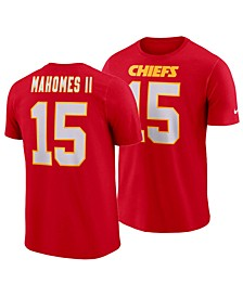 Men's Pat Mahomes Kansas City Chiefs Pride Name and Number Wordmark T-Shirt