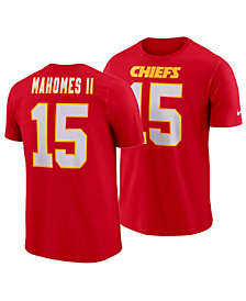 Nike Men's Pat Mahomes Kansas City Chiefs Pride Name and Number Wordmark T-Shirt