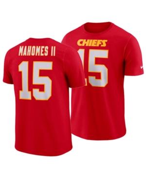 Nike Men's Pat Mahomes Kansas City Chiefs Pride Name and Number Wordmark T-Shirt