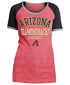 Women's Arizona Diamondbacks Crew Colorblock T-Shirt