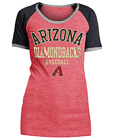 5th & Ocean Women's Arizona Diamondbacks Crew Colorblock T-Shirt