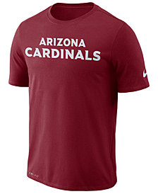 Nike Men's Arizona Cardinals Dri-FIT Cotton Essential Wordmark T-Shirt