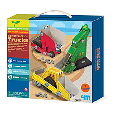 4M Construction Trucks Craft Kit