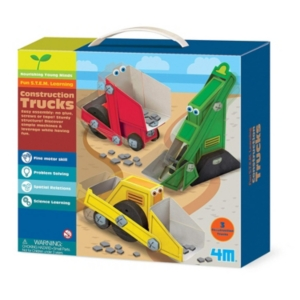 Image of 4M Construction Trucks Craft Kit