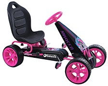 Sirocco Ride On Pedal Go Kart, Pink
