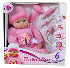 Lissi 16 Inch Baby Doll Doctor And Medical Set With 6 Interactive Functions