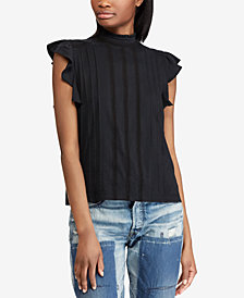 Polo Ralph Lauren Lace-Embroidered Cotton Top