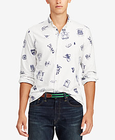 Polo Ralph Lauren Men's Big & Tall Classic Fit Printed Oxford Shirt