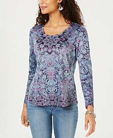Printed Rhinestone-Embellished Top, Created for Macy's