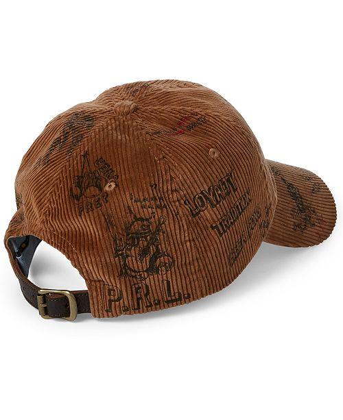 Polo Ralph Lauren Men s Corduroy Baseball Cap - Hats 1a74b005c80