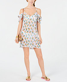 Miken Flutter-Sleeve Cover-Up Dress