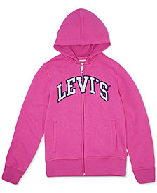 Levi's® Big Girls Full-Zip Logo Hoodie