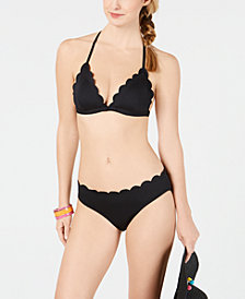 kate spade new york Scalloped Bikini Top & Bottoms