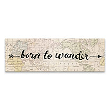 Born to Wander Printed Canvas