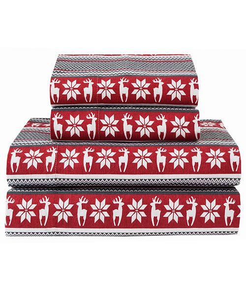 Elite Home Winter Nights Cotton Flannel Sheet Sets