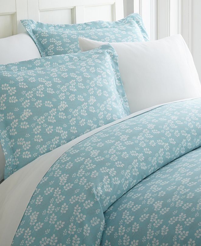 ienjoy Home Elegant Designs Patterned Duvet Cover Set by The Home Collection, Twin/Twin XL