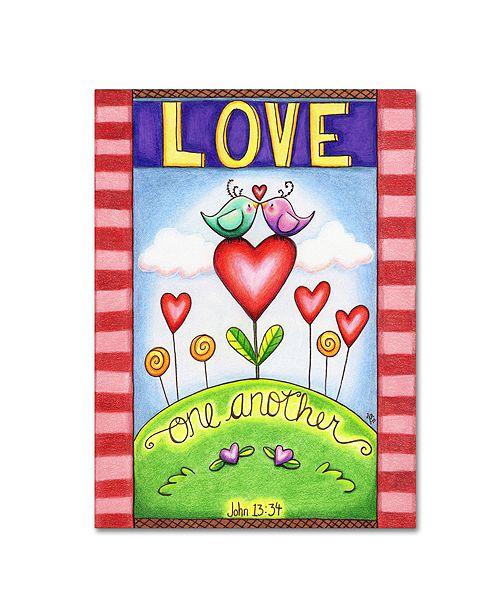 "Trademark Global Jennifer Nilsson Love One Another (Birds) Canvas Art - 18"" x 24"" x 2"""