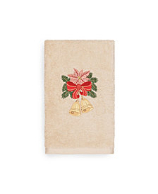 Linum Home Christmas Bells 100% Turkish Cotton Hand Towels
