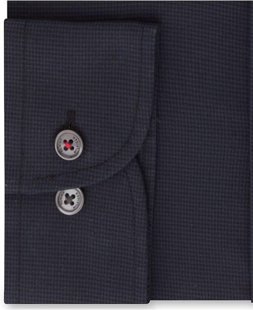 4de23cf6 Tommy Hilfiger Men's Slim-Fit TH Flex Performance Stretch Non-Iron Navy  Houndstooth Dress ...