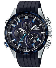 G-Shock Men's Solar Edifice Black Resin Strap Watch 48.1mm