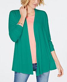 Karen Scott Draped Open-Front Cardigan, Created for Macy's