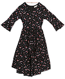 Speechless Big Girls Floral-Print Dress & Necklace