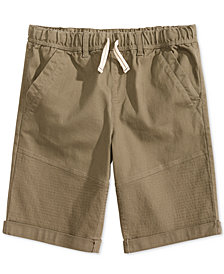 Epic Threads Big Boys Moto Twill Shorts, Created for Macy's