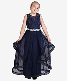 Speechless Embellished-Lace Maxi Dress, Big Girls (7-16)