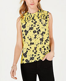 Maison Jules Georgette-Print Sleeveless Top, Created for Macy's