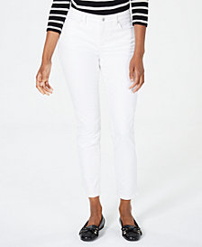 Charter Club Petite Stretch-Twill Ankle Jeans, Created for Macy's