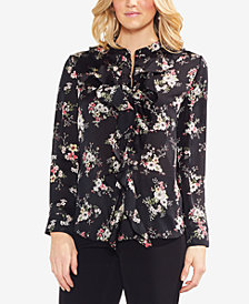 Vince Camuto Ruffled Floral-Print Top