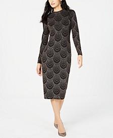 INC Sequin Mock Neck Midi Dress, Created For Macy's