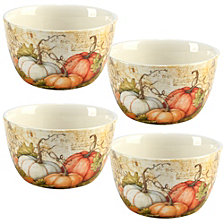 Certified International Autumn Fields 4-Pc. Ice Cream Bowl Set