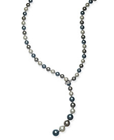 """Charter Club Pavé & Imitation Pearl 36"""" Lariat Necklace, Created for Macy's"""