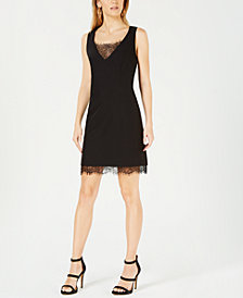 Bar III Lace-Trim Bodycon Dress, Created for Macy's