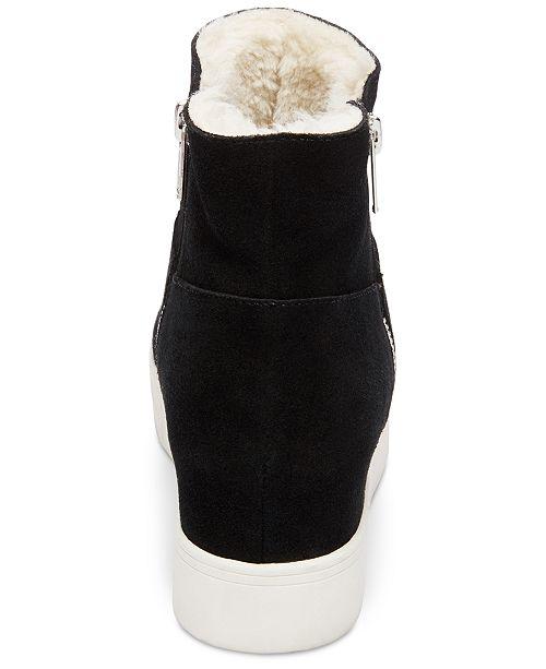 bd2ed3838515 Steve Madden Wanda Faux-Fur Wedge Sneakers   Reviews - Athletic ...