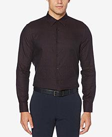 Perry Ellis Men's Slim-Fit Dot Check Jacquard Shirt