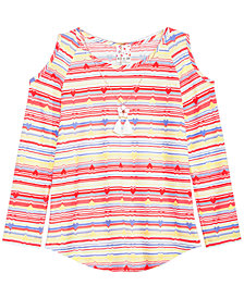 Belle Du Jour Big Girls Striped Top & Necklace