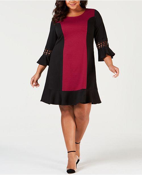 NY Collection Plus Size Colorblocked Sheath Dress, Plus & Petite Plus Sizes