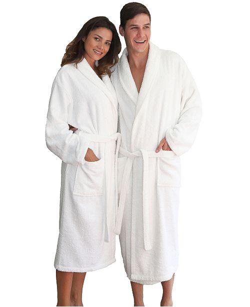Linum Home Unisex 100% Turkish Cotton Terry Bath Robe - Macy s 2af1c0988