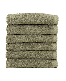 Linum Home Soft Twist 6-Pc. Washcloth Set