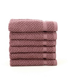 Herringbone 6-Pc. Washcloth Set
