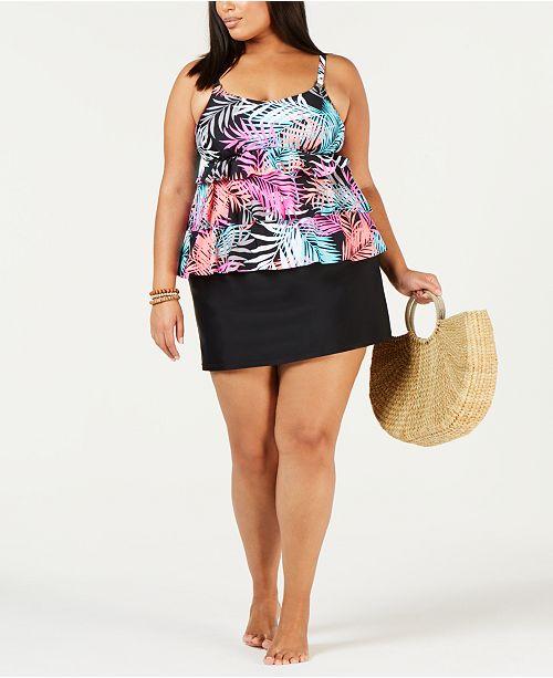 64466c427fb Island Escape Plus Size Tankini Top & Swim Skirt, Created for Macy's ...