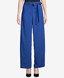 ECI Wide-Leg Self-Tie Pants
