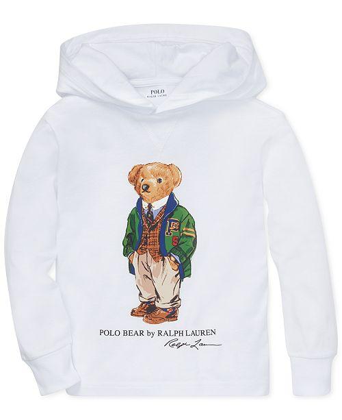 Polo Ralph Lauren Little Boys Polo Bear Hooded Long Sleeve