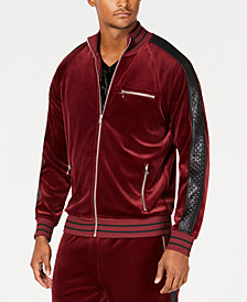 I.N.C. Men's Velour Side Stripe Track Jacket, Created for Macy's