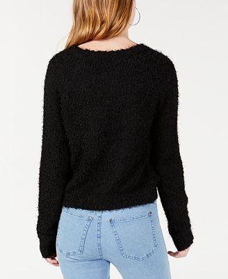 Freshman By Rdg Juniors Fuzzy Pullover Sweater Sweaters Juniors