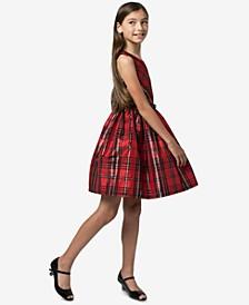 Big Girls Belted Plaid Taffeta Dress