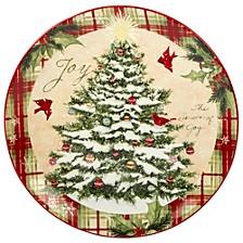 Holiday Wishes Round Platter